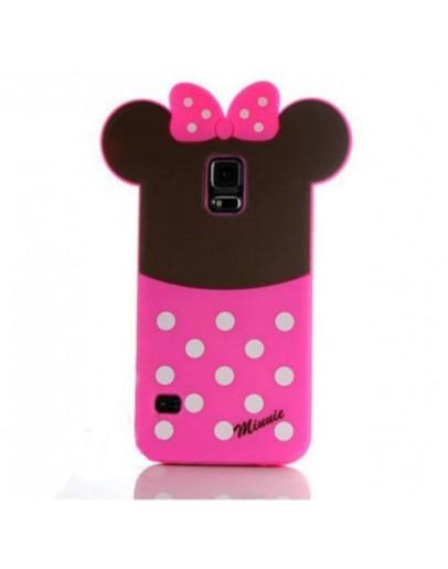 "Carcasa protectie spate ""Minnie"" din silicon pentru Samsung Galaxy S5"